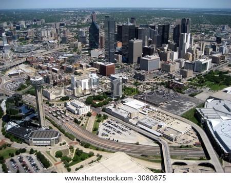 Aerial of Dallas 5 - stock photo