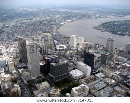 Aerial of New Orleans 4 - stock photo