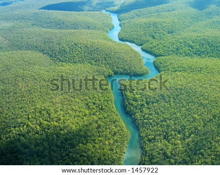 Aerial Photography - The River - stock photo