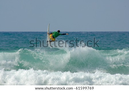 aerial surf - stock photo
