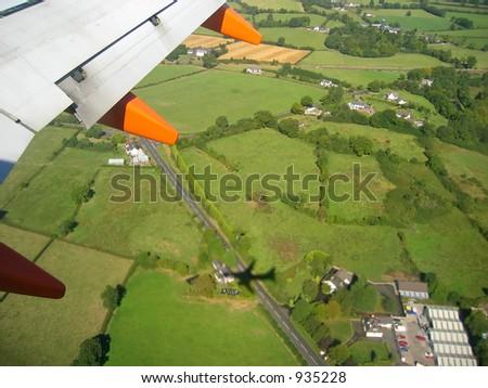 Aerial view of belfast, Northern Ireland - stock photo