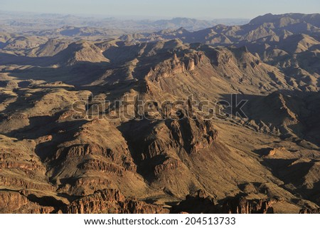 Aerial view of Big Bend National Park, Texas, United States. - stock photo