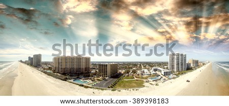 Aerial view of Daytona Beach. - stock photo