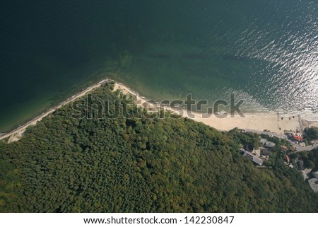 Aerial view of Gdynia Orlowo in Poland - stock photo