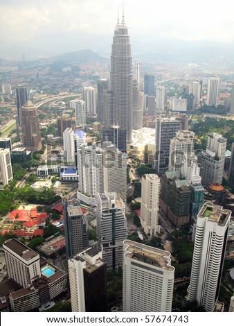 Aerial view of Kuala Lumpur - stock photo