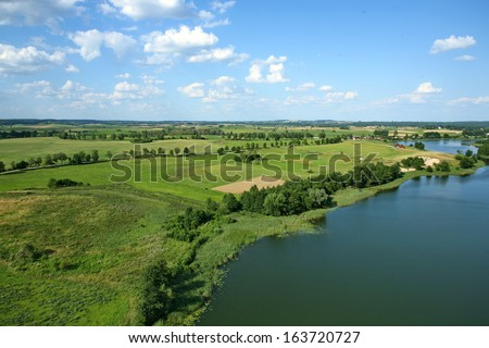 Aerial view of landscape  - stock photo