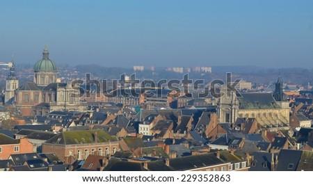Aerial view of Namur. - stock photo
