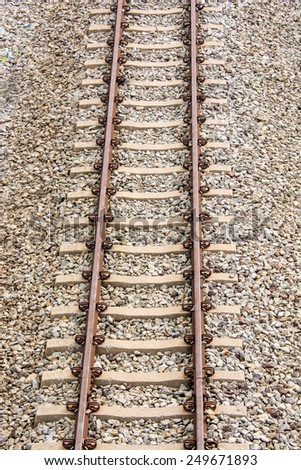 aerial view of rail way in Thailand. - stock photo