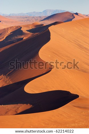 Aerial View of the Namib Desert - stock photo