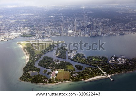 Aerial view of Toronto. 