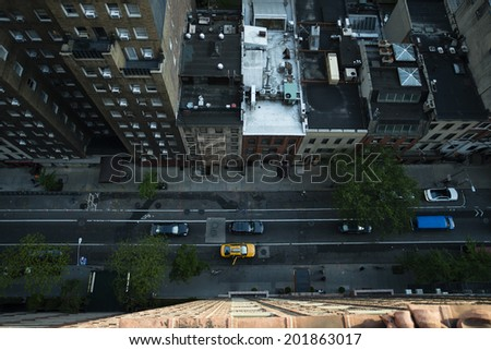 Aerial view , Road of New York - stock photo