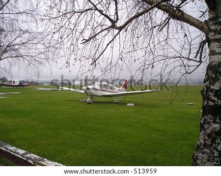 Aeroplane at Aero club - stock photo