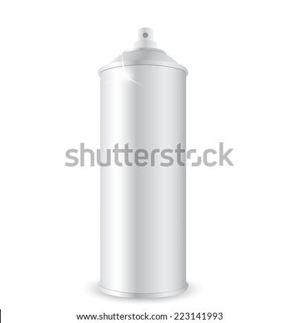 Aerosol spray metal bottle can - stock photo