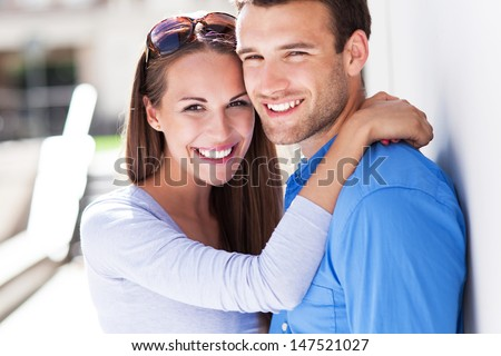 Affectionate young couple - stock photo