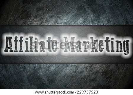 Affiliate Marketing Concept text on background - stock photo