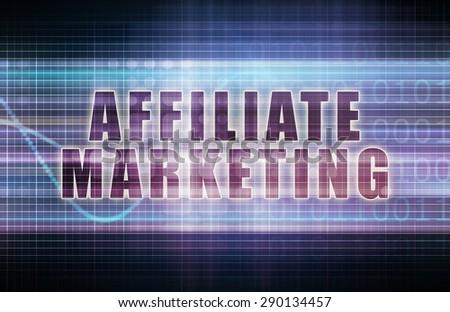 Affiliate Marketing on a Tech Business Chart Art - stock photo