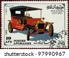 AFGHANISTAN - CIRCA 1989: A stamp printed in Afghanistan shows vintage car, circa 1989. - stock photo