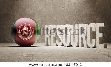 Afghanistan High Resolution Resource Concept - stock photo
