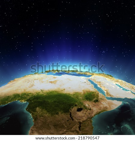 Africa. Elements of this image furnished by NASA - stock photo