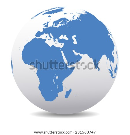 Africa, Middle East, Arabia and India Global World - stock photo