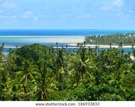 Africa, Mozambique. Indian ocean coast. - stock photo