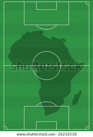 Africa Soccer. Abstract raster illustration - stock photo