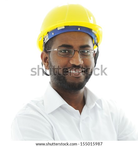 African american architect engineer - stock photo