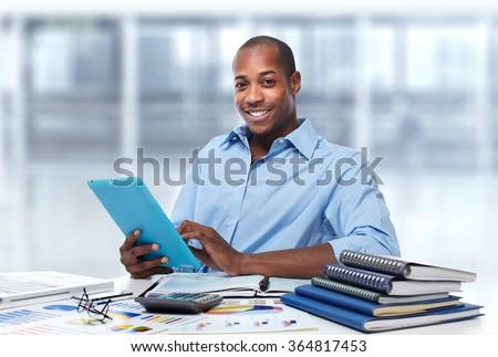 African american businessman. - stock photo