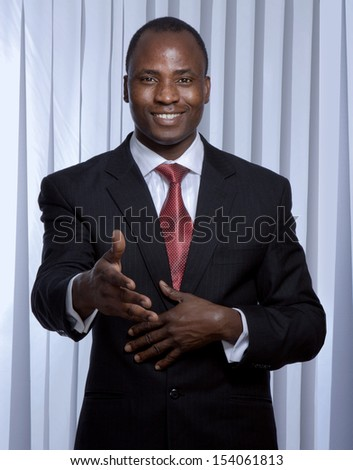 African American businessman , isolated on white background - stock photo