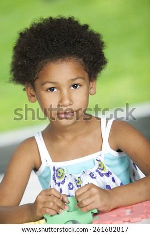 African american girl - stock photo
