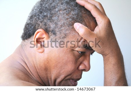 African american man feeling sad and rejected. - stock photo