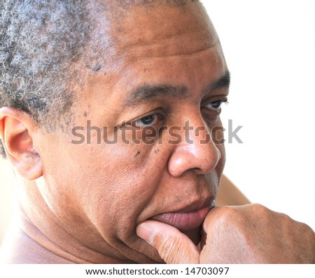 African american man relaxing at home. - stock photo