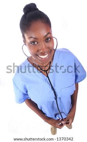 African American Medical Worker - Nurse - Doctor - stock photo