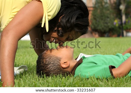 African American Mother and Child - stock photo