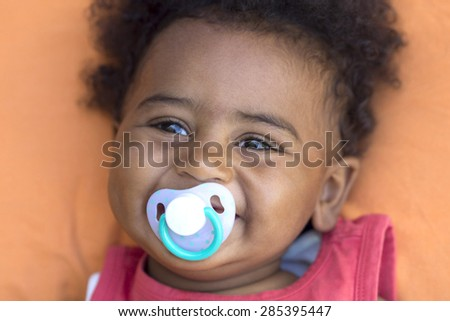 African baby     - stock photo