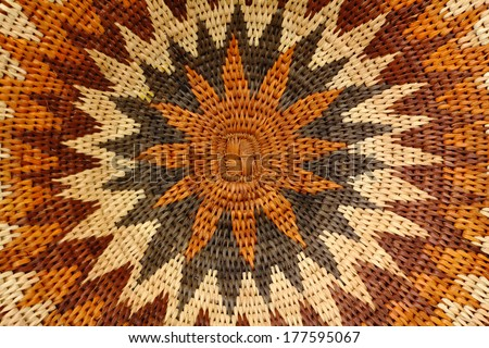 African basket - stock photo