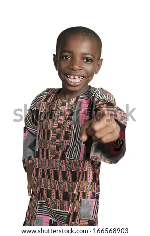 African Boy Portrait, Studio Shot - stock photo