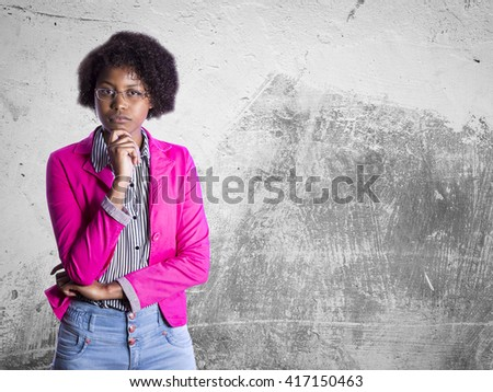 african business girl with glasess - stock photo