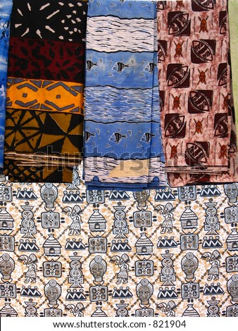 African cloth - stock photo