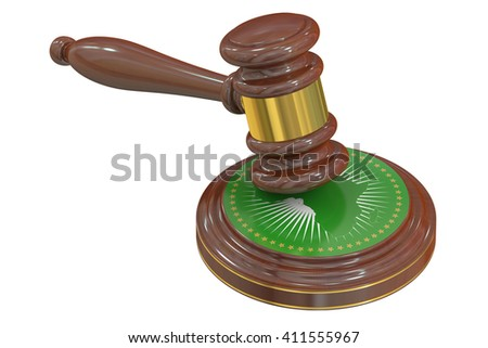 African Court of Justice concept, 3D rendering - stock photo