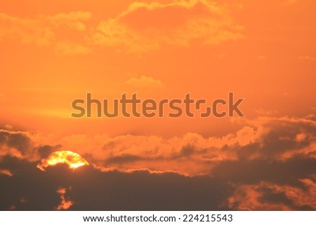 African Dusk - Sunset Background - Golden Sky - stock photo