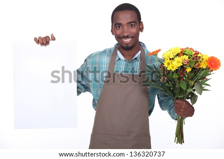 African florist - stock photo