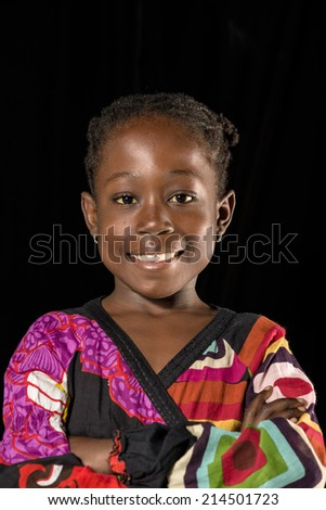 African girl - stock photo