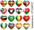 African Hearts - stock photo