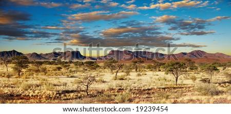 African landscape, Kalahari Desert, Namibia - stock photo