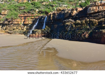 African landscape Waterfall - stock photo