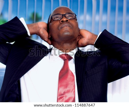 African Man in office - stock photo