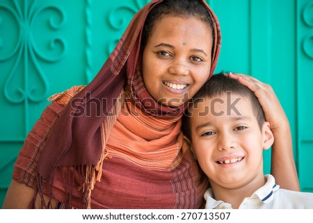 African Muslim girl - stock photo