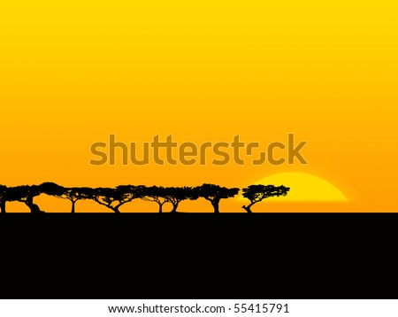 african savannah - stock photo