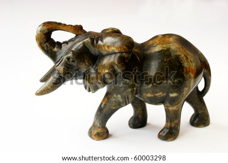 African sculpture of elephant - stock photo